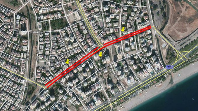 antalya belediye caddesi gun trafige kapali