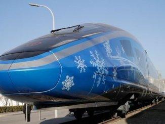 سجل سرعة على خط السكك الحديدية بكين zhangjiakou