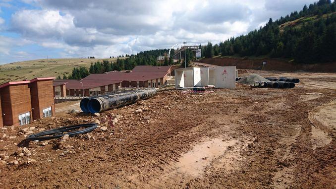 cambasi χιονοδρομικό κέντρο προετοιμάζεται για την εποχή