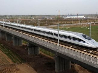 railway network connecting the city of China has gone a thousand kilometers