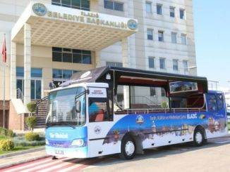 elazig municipality tour bus in service