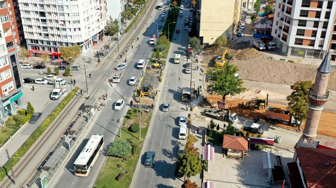 work to relieve traffic in Eskisehir