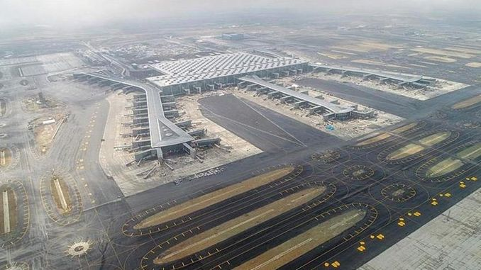 construction of the runway at Istanbul airport will be finished