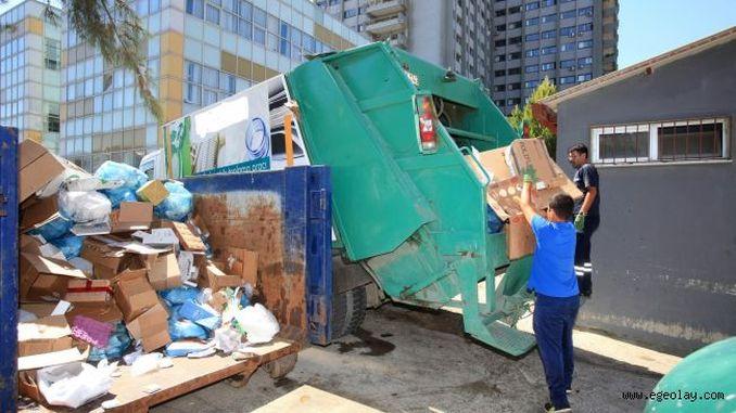 milyong toneladang basura na nakolekta sa munisipyo sa izmir