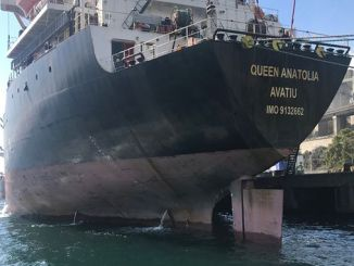 record parusa sa ship polluting izmit korfez