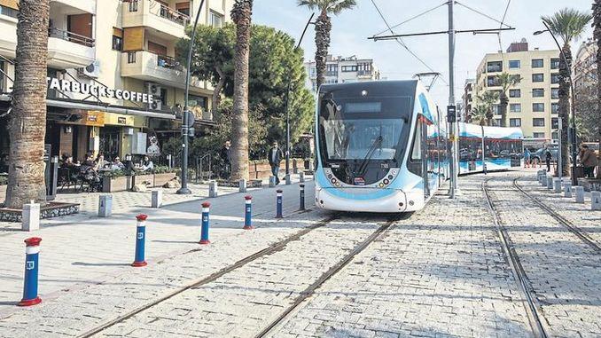 ultima situazione nel progetto del tram Karsiyaka Cigli