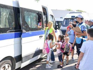 Die dienste word deurlopend gemonitor vir veilige en gemaklike vervoer van studente in Mersin