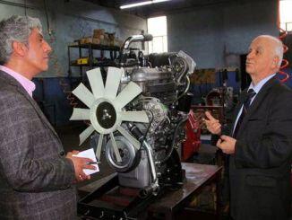 turkiyenin перший місцевого і національний спеціальний дизельний двигун на заводі Явуз