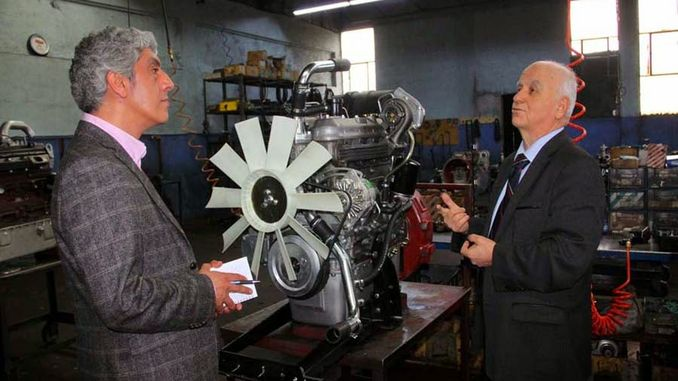 turkiyenin first local and national special diesel engine factory Yavuz