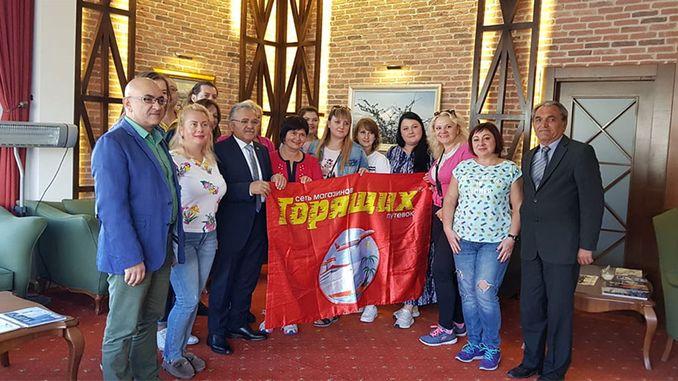 touristes ukrainiens admirent kayseriye