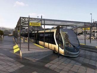 Die Abzweigung nach Unkapani wird im Rahmen des Straßenbahnprojekts erneuert