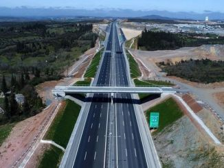 coming to the end of the northern marmara motorway to ease the traffic of the province
