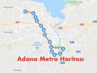 Mappa della metropolitana di Adana