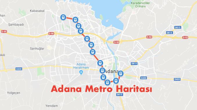 نقشه مترو آدانا