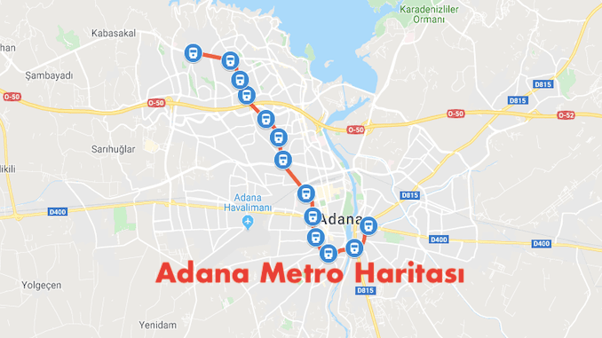 Map metro Adana
