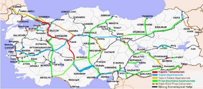 קו הרכבת המהירה Karaman Ulukışla Yenice