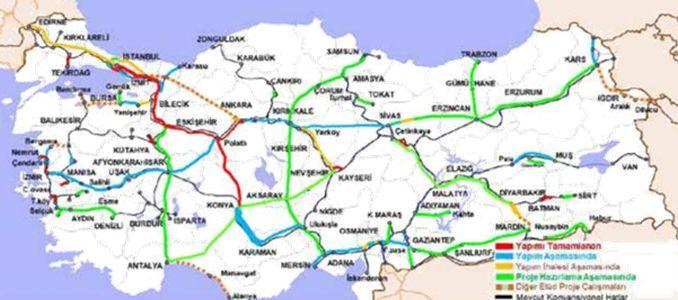 Jalur Railway Konya Karaman High Speed