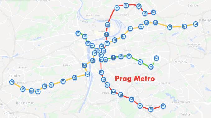 Prag Metro Haritasi