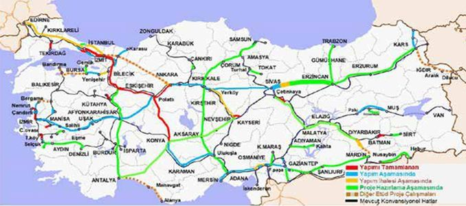 Jalur Railway Speed Sivas Erzincan