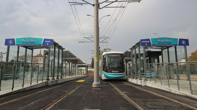 The length of the Akcaray tram line went up to kilometers