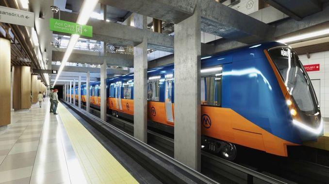 Umongameli secandelo wanika umhla we-mersin metro