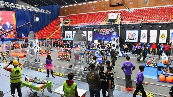 baskent ankara hosted the off season robotics tournament