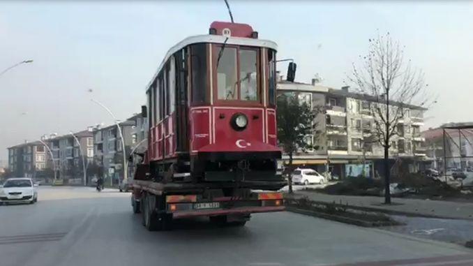 အပြား၏လွမ်းဆွတ် tram ရှိရာ