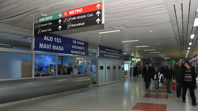 gokcekin goes to the metro and ankaray station bufe appeared