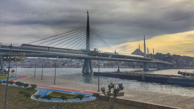 halic metro bridge cost and length