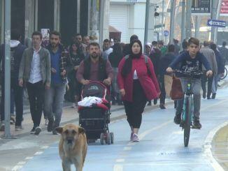 Ստամբուլի փողոցը բացվեց հեծանիվների ուղու ծառայության համար