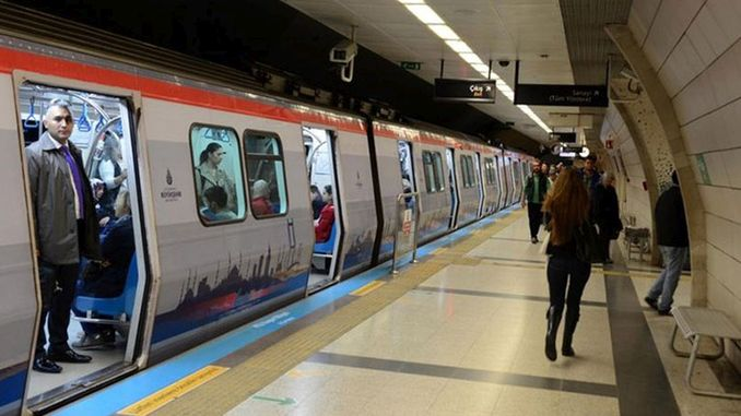 Istanbul night subway train a thousand passengers per month