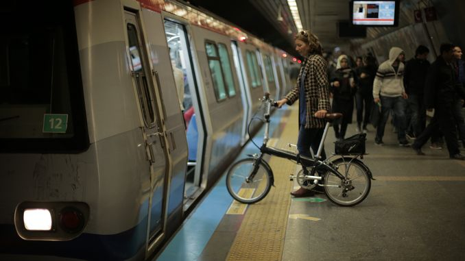 marmaray and metro bikes in istanbul