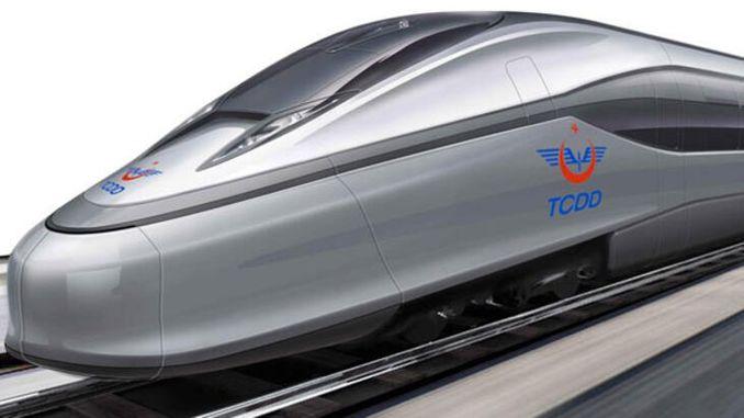 nationale højhastighedstog imødekommer de første prototype te skinner