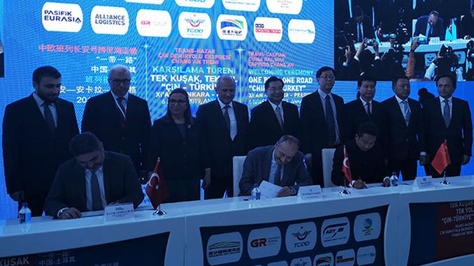 tcdd transport signed a protocol for transports on the trans-Caspian route