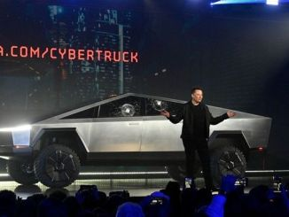 tesla pickup model cybertrucki introduced