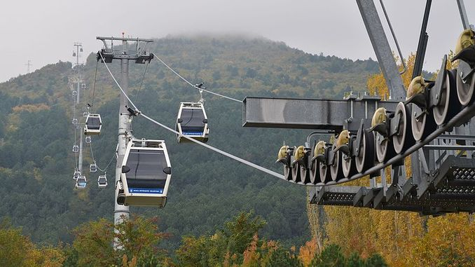 uludag ropeway flights canceled due to strong wind