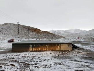 yedikuyular ski resort of the first snowfall of the season