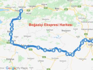 Karta över Bogazici Express