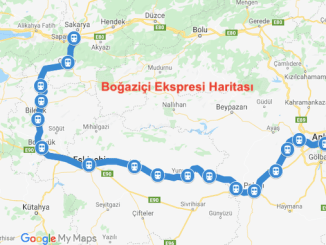 Bogazici Ekspresi Haritasi