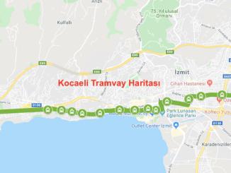 Kocaeli tramvay xaritasi