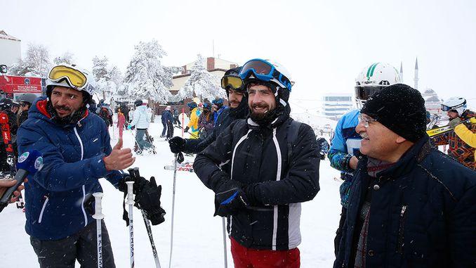 التقى الرئيس buyukkilic erciyese الضيوف المحليين والأجانب