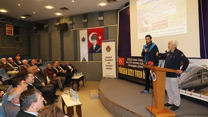 duzce tso ankara istanbul high-speed tren calistayi