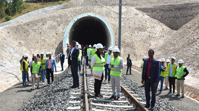 ethiopian transport minister akh dmiryolu site visited