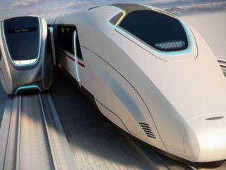 Hareketli İki Hızlı Tren Arasında Durmadan Yolcu Transferi