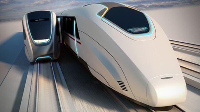 Az utasok közötti megállás nélküli átállás két mozgó nagysebességű vonat között