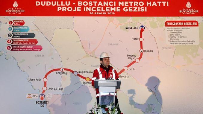 İmamoğlu Dudullu am U-Bahnhof Bostancı untersucht