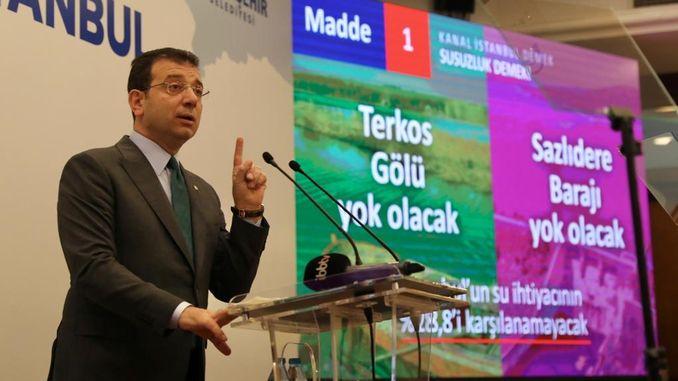 Имаglu всеки гражданин трябва да възразява срещу канала на проекта за Истанбул