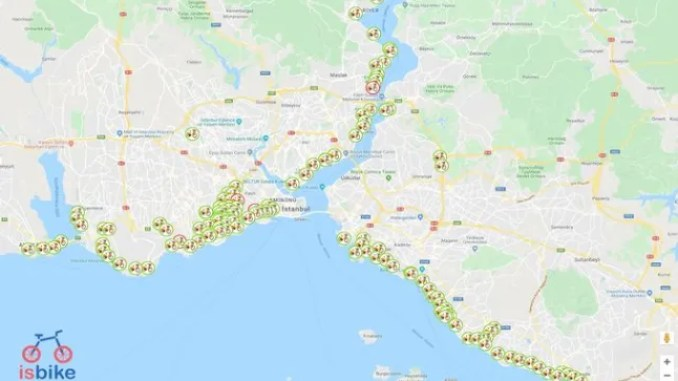 İSBİKE Mobile Application Bicycle Map