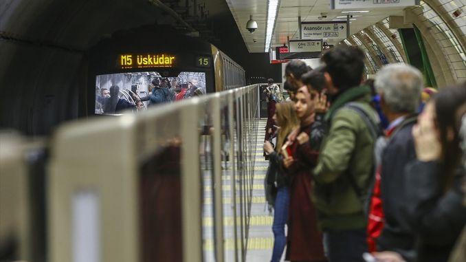 istanbul metro close to million passengers