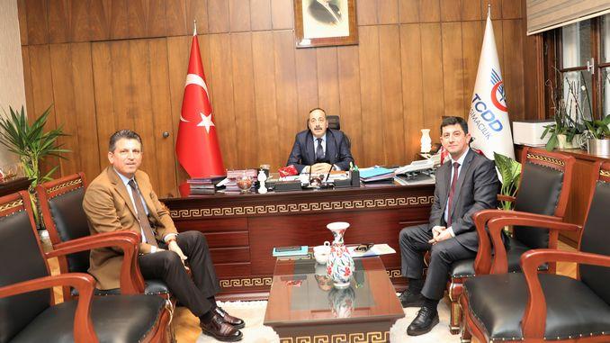 Den Ambassadeur vu Kasachstan huet de General Manager Yazıcı op sengem Büro besicht